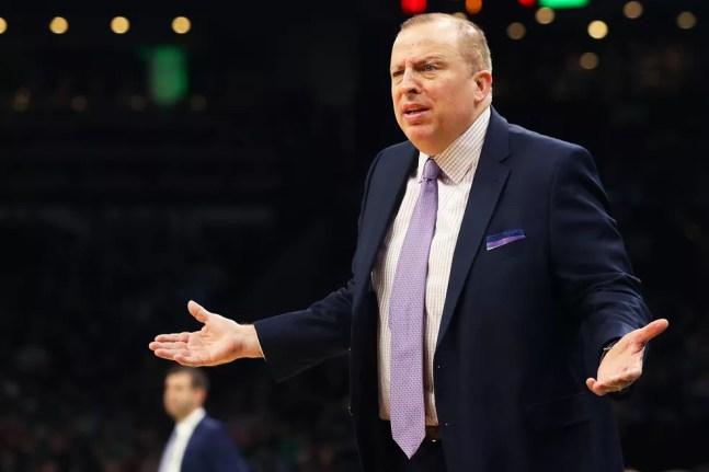 Tom Thibodeau assumiu o time do Knicks para esta temporada — Foto:  Maddie Meyer/Getty Images
