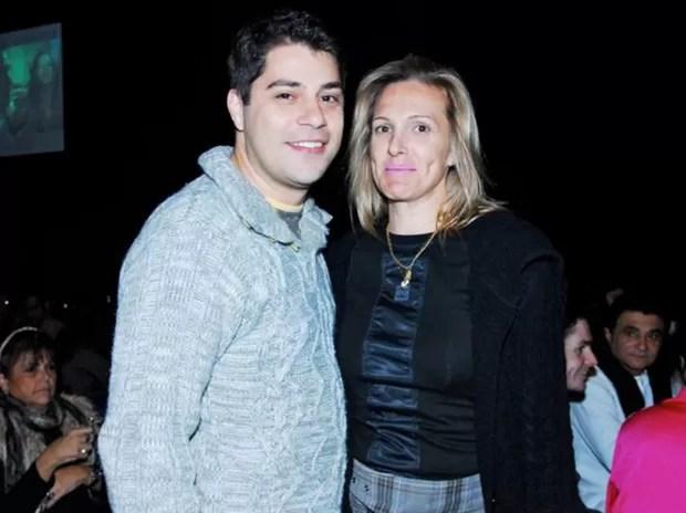 Evaristo Costa com a mulher, Amália Stringhini (Foto: Rodrigo Trevisan/Divulgação)