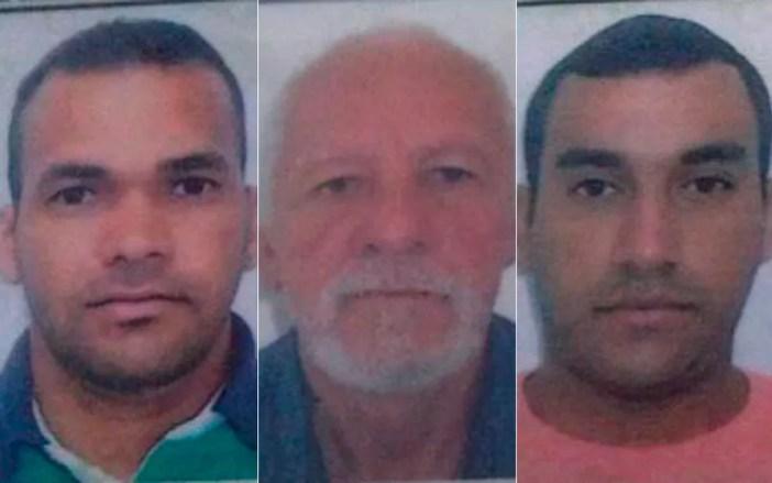 Motorista, o sogro e o ajudante morreram no local do acidente na Bahia (Foto: Montagem / G1)