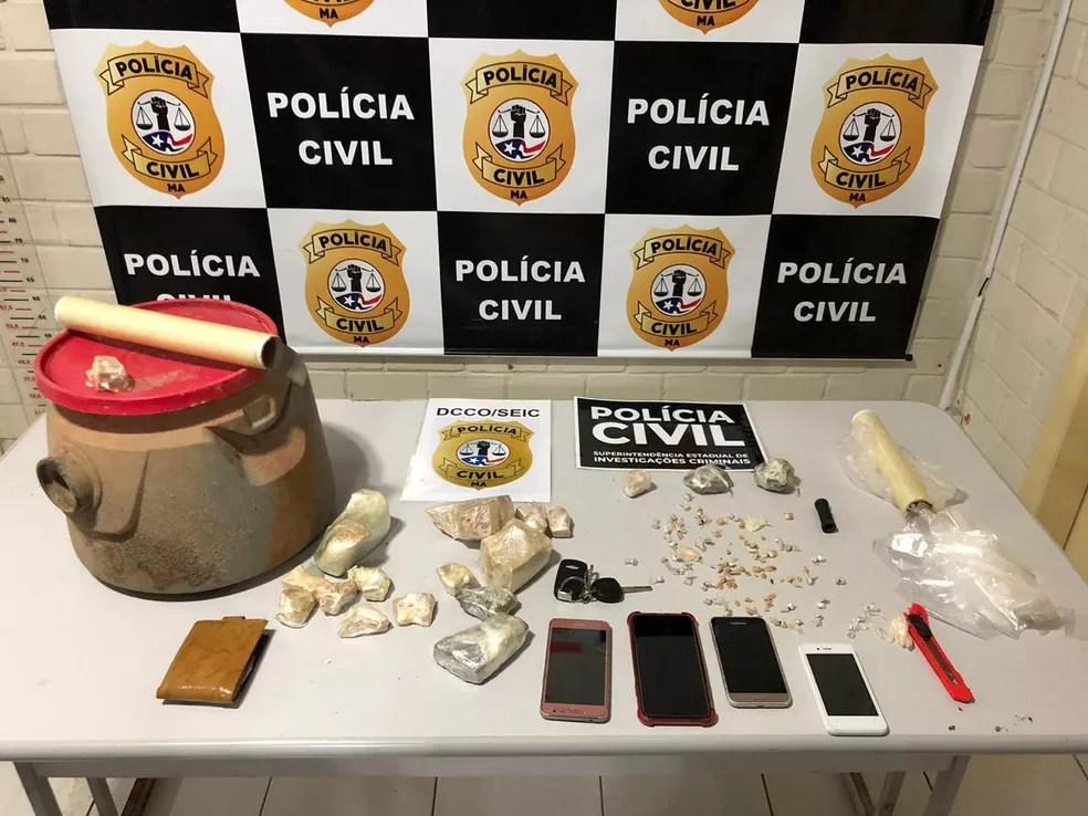 Polícia Civil do Maranhão apreende droga avaliada em R$ 30 mil em São Luís. — Foto: Divulgação/Polícia Civil