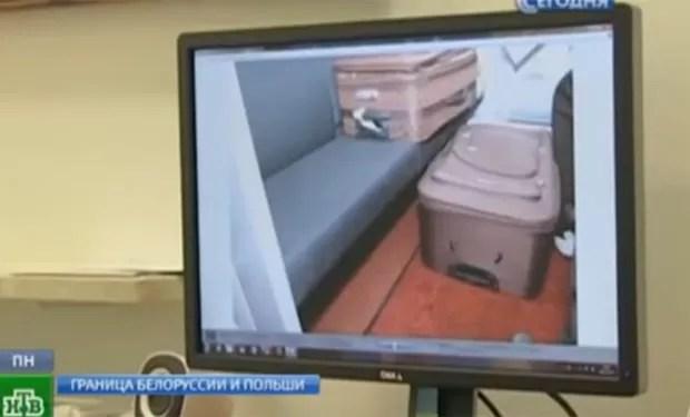 Francês levava sua esposa russa em mala (Foto: Reprodução/YouTube/??????? ???????)