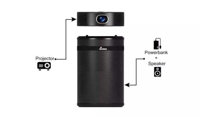 Lumes permite separar projetor de caixa de som (Foto: Divulgação/Indiegogo)