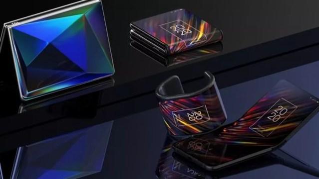 A chinesa TCL está apostando alto em dispositivos flexíveis — Foto: TCL/BBC
