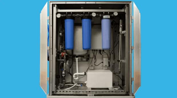 A Water Box já limpou o equivalente a 68 mil garrafas (Foto: Divulgação)