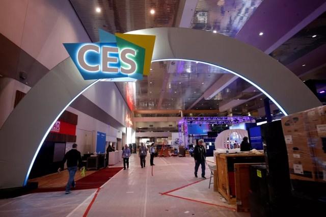 CES 2019 recebe os ajustes finais neste domingo (6). Evento começa na terça — Foto: Steve Marcus/Reuters