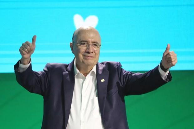 Henrique Meirelles foi oficializado nesta quinta-feira como candidato do MDB ao Palácio do Planalto (Foto: Fátima Meira/Futura Press/Estadão Conteúdo )