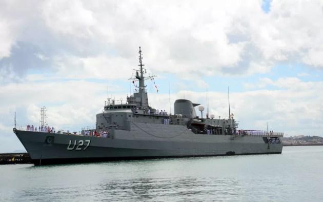 Navio da Marinha do Brail fica aberto à visitação das 14h ás 17h desta sexta-feira (28) (Foto: Divulgação/Marinha do Brasil)