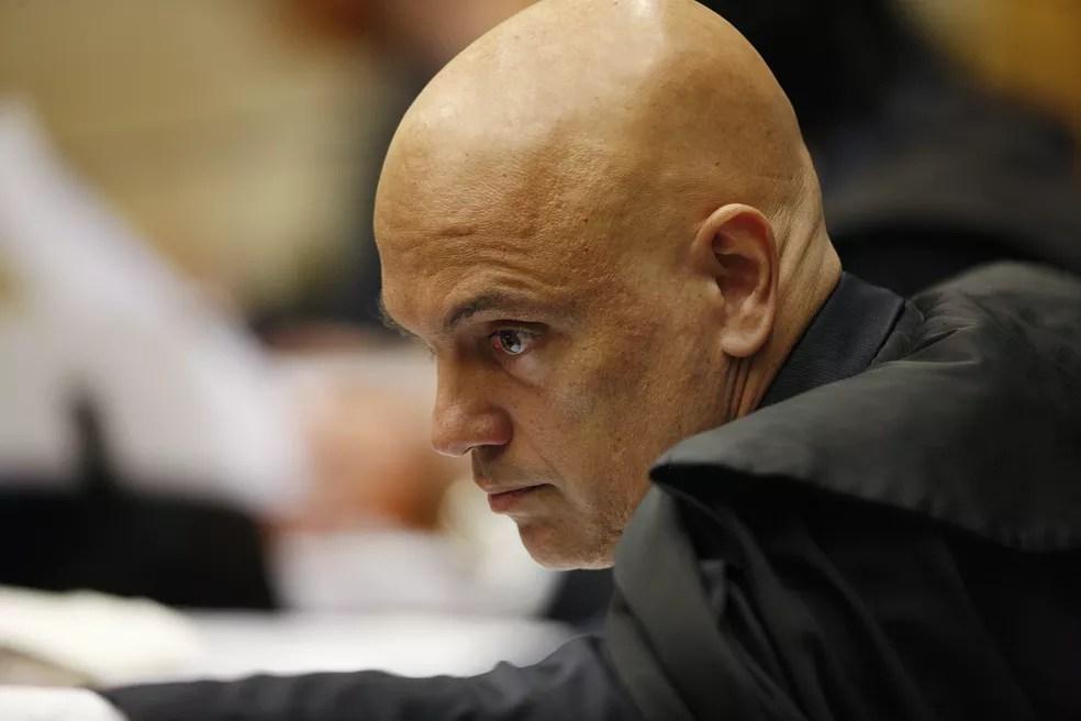 O ministro Alexandre de Moraes durante sessão no Supremo Tribunal Federal (STF) — Foto: Rosinei Coutinho/STF