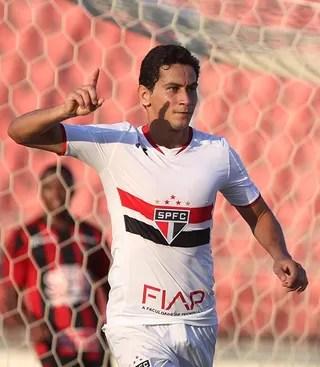 Ganso, do São Paulo, comemora gol contra Ituano (Foto: Rubens Chiri / saopaulofc.net)