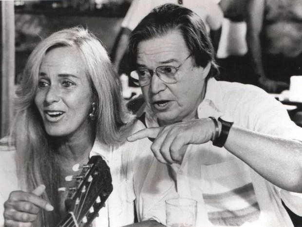 Helô Pinheiro e Tom Jobim (Foto: Foto: arquivo Pessoal)