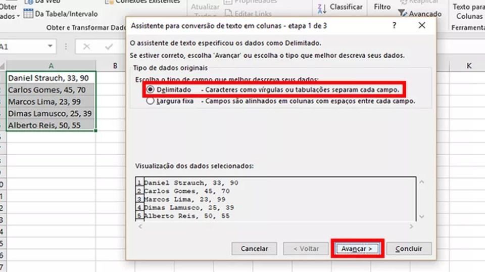 """Selecione """"Delimitado"""" e clique em """"Avançar"""" (Foto: Reprodução/Daniel Ribeiro)"""