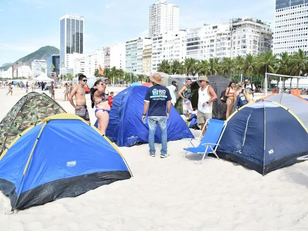 Barracas de camping foram desmontada pela Prefeitura (Foto: Divulgação/Seop)