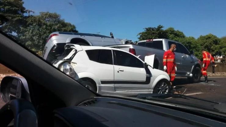 Apesar dos estragos, ninguém se feriu (Foto: Arquivo pessoal)