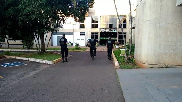 PF, CGU e Receita fazem buscas na Secretaria Estadual de Fazenda de MS durante quarta fase da operação Lama Asfáltica, Máquinas de Lama (Foto: Marcos Ribeiro/G1 MS)