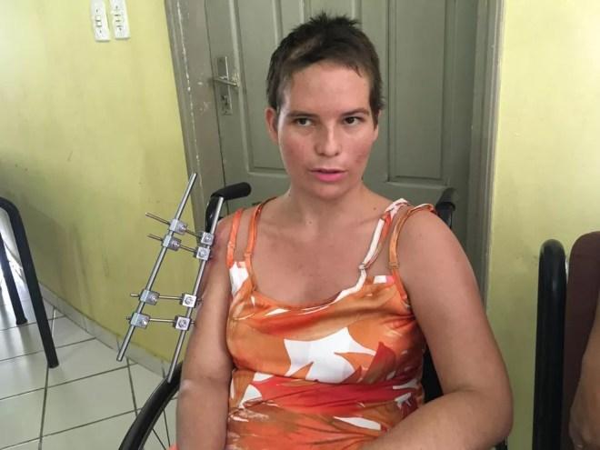 Mônica diz que suspeito não aceitou fim do relacionamento  — Foto: Gledisson Albano/Rede Amazônica Acre