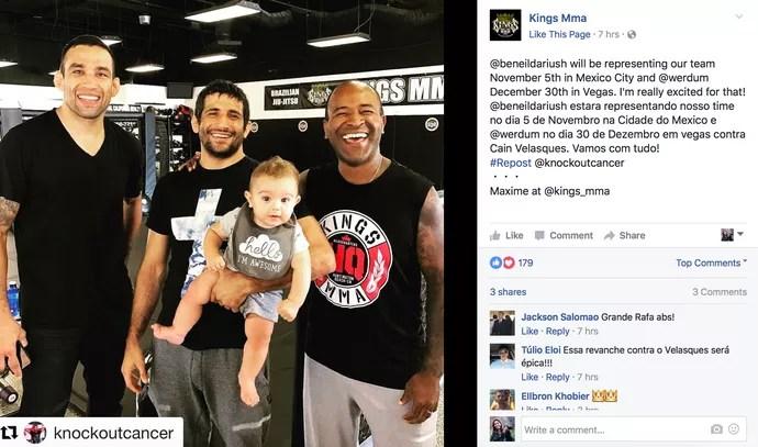 Post Rafael Cordeiro; UFC (Foto: Reprodução Facebook)