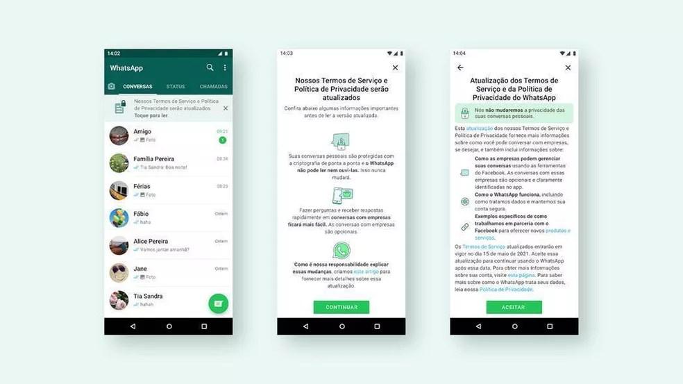 WhatsApp terá novo alerta sobre mudança na política de privacidade — Foto: Divulgação