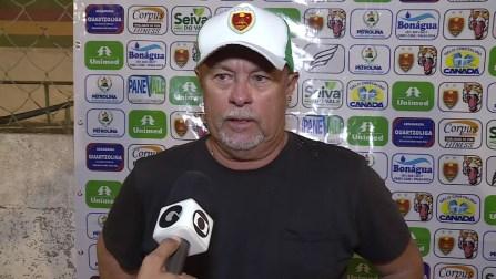 Pedro Manta, técnico do Petrolina. — Foto: Reprodução/TV Grande Rio