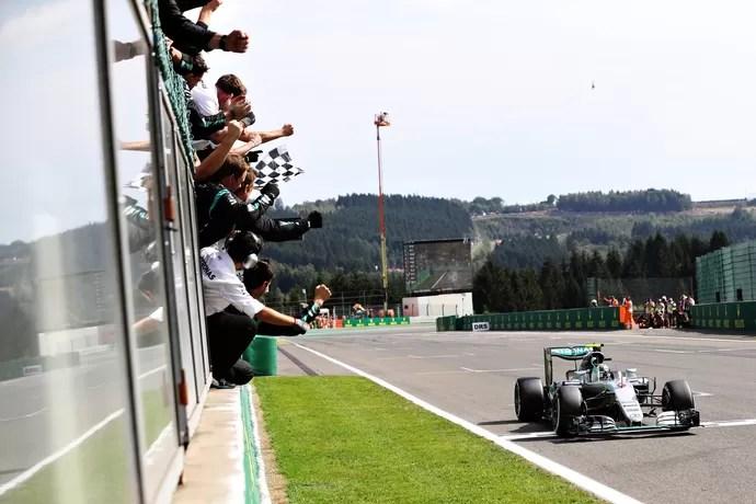 Nico Rosberg vence GP da Bélgica de Fórmula 1 em 2016 (Foto: Getty Images)