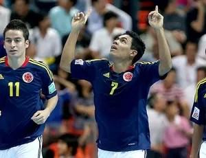 Colômbia comemoração gol Brasil futsal Mundial (Foto: FIFA.com via Getty Images)