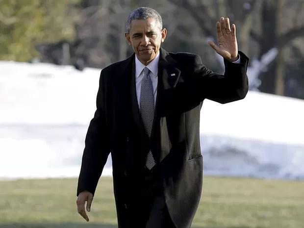 Obama chega a Washington depois de visitar hospital militar em Maryland (Foto: Joshua Roberts/Reuters)