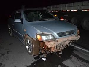 Acidente ocorre na noite de domingo (28) (Foto: Blog do Sigi Vilares)