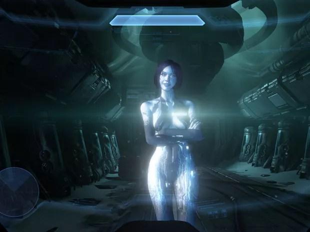 A inteligência artificial Cortana está de volta ao game para ajudar Master Chief (Foto: Divulgação)