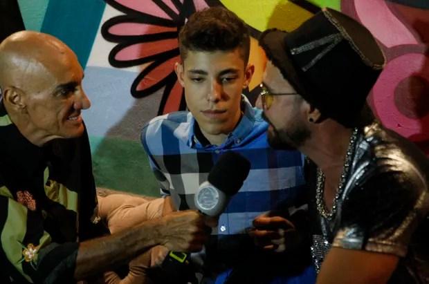 Latino e o filho Guilherme (Foto: AgNews)