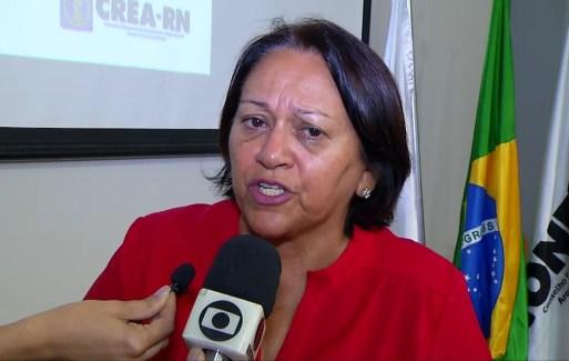 Candidata Fátima Bezerra (PT) participou de sabatina na sede do Crea em Natal (Foto: Reprodução/Inter TV Cabugi)