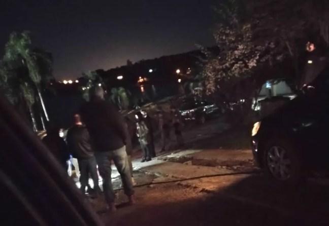 Polícia Civil faz reconstituição de morte de empresário em Mairinque (SP) — Foto: Arquivo pessoal