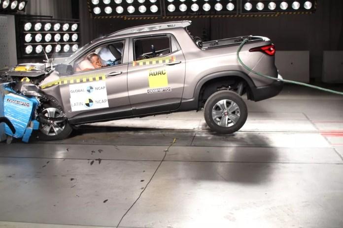 Fiat Toro em teste de colisão feito pelo Latin NCap (Foto: Divulgação)