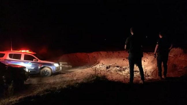 Local onde o corpo de Elisiane foi encontrado — Foto: Polícia Civil/ Divulgação