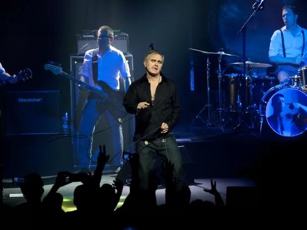 Morrissey faz show no Teatro Renault, em São Paulo (Foto: Caio Kenji/G1)