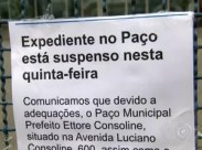 Prefeitura de Itatiba é interditada por falta de alvará (Foto: Reprodução/TV TEM)