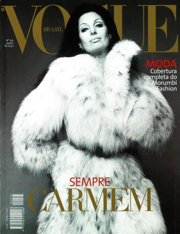 Carmen Mayrink Veiga (Foto: Reprodução/Acervo Vogue)