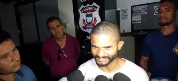 Lumar Costa da Silva, de 28 anos, foi ouvido na delegacia da Polícia Civil em Sorriso — Foto: Portal Sorriso