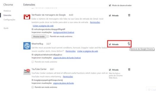 Ao escolher, clique no botão de lixeira (Foto: Reprodução/Paulo Alves) (Foto: Ao escolher, clique no botão de lixeira (Foto: Reprodução/Paulo Alves))