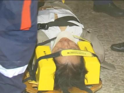Nova foto deputado ferido (Foto: Reprodução/TV Globo)