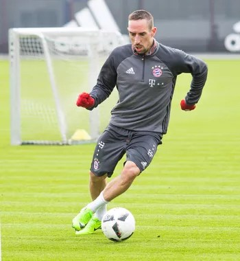 Ribery em treino do Bayern de Munique (Foto: Divulgação / Bayern de Munique)
