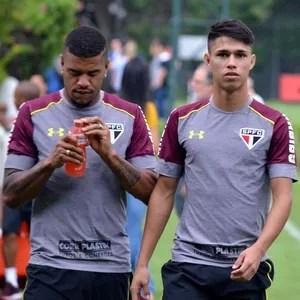 Junior Tavares Luiz Araújo São Paulo (Foto: Erico Leonan / site oficial do SPFC)