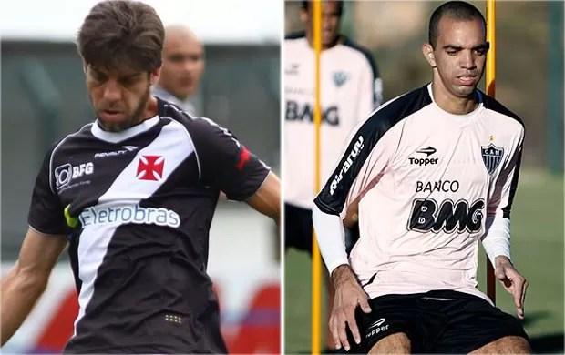 Juninho Pernambucano e Diego Tardelli na mira do Galo (Foto: Arte / Globoesporte.com)