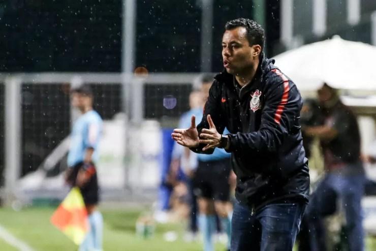 Jair Ventura durante partida do Corinthians contra o América-MG — Foto: Rodrigo Gazzanel/Ag. Corinthians
