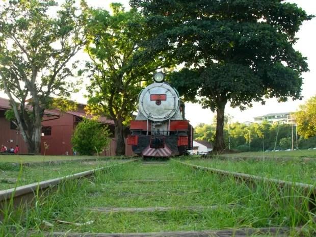 Trecho entre a Capela de Santo Antônio e o Complexo da Estrada de Ferro Madeira-Mamoré, em Porto Velho deverá ser reativado no final de 2014 (Foto: Jenifer Zambiazzi/G1)