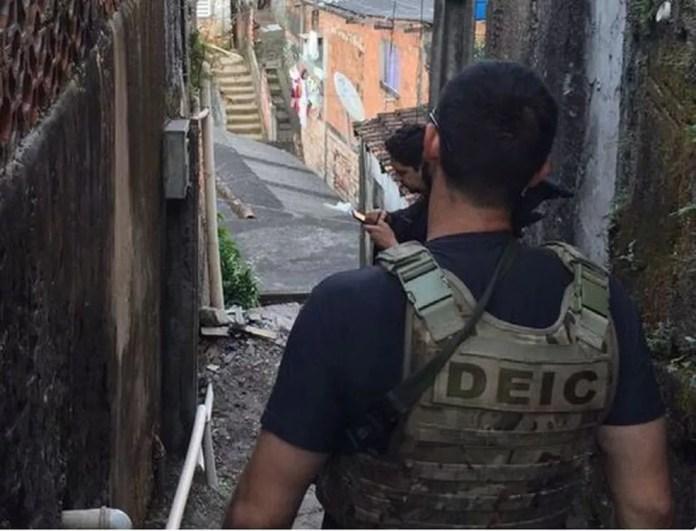 Mais de 300 policiais civis participaram da operação (Foto: Polícia Civil)