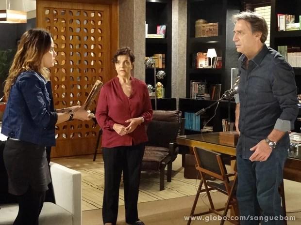 Malu descobre que Rita é Irene (Foto: Sangue Bom/TV Globo)