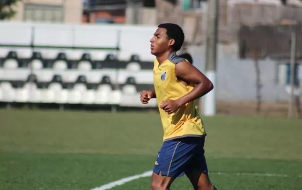 Joshua, filho de Pelé, treina no CT Meninos da Vila (Foto: Luis Paes / Globoesporte.com)