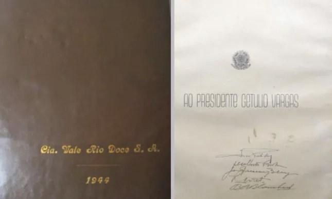 Álbum produzido em 1944 dedicado a Getúlio Vargas