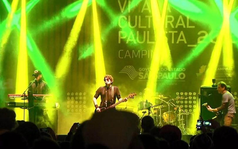 Virada Cultural Paulista em Campinas teve show da banda Titãs em 2015 (Foto: Reprodução/EPTV)