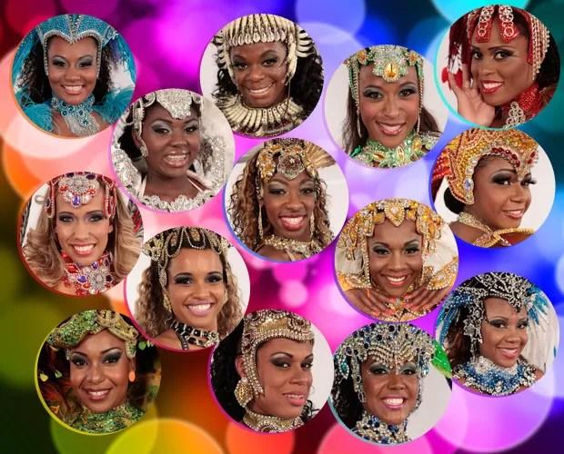 Quatorze passistas concorrem ao posto de Musa do Carnaval de São Paulo (Foto: Caldeirão do Huck / TV Globo)