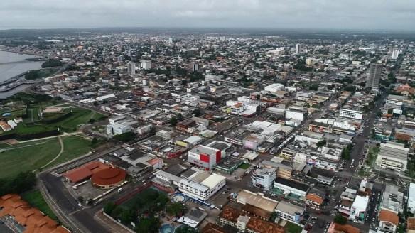 Vista aérea de Macapá, capital do Amapá — Foto: Rogério Lameira/Rede Amazônica